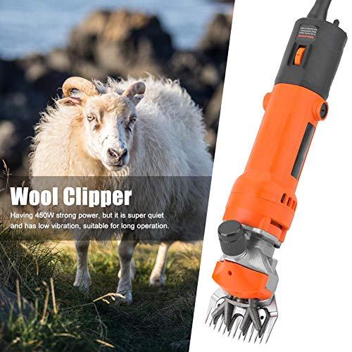 Professionele grasmaaier, 450 W, draagbare elektrische schaar, met lemmetpunt, speciaal ontwikkeld om de schapen niet te beschadigen.