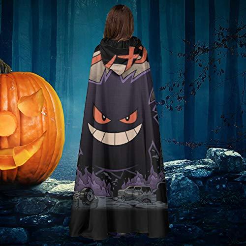 AISFGBJ Monster of The Pocket Gengar Kaiju Mix Unisex Weihnachten Halloween Hexe Ritter Kapuzenmantel Vampir Umhang Umhang Cosplay Kostüm