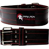 Dark iron fitness genuine leather pro weightlifting belt image