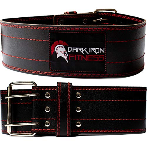 Dark Iron Fitness Genuine Leather Pro Weight Lifting Belt for Men and...