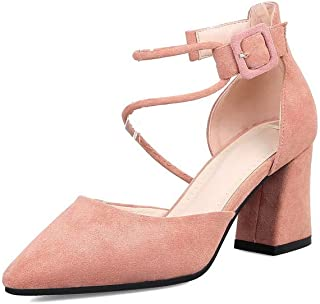 BalaMasa Womens ASL06568 Pu Block Heels