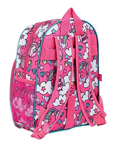 511BOIVTBgL - Mochila Infantil de Minnie Mouse de safta 612012609, Color Rosa