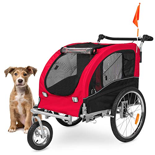 Best Choice Products 2-in-1 Pet Stroller and Trailer w/ Hitch, Suspension