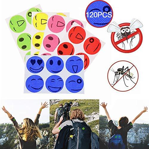 Horizoncn Mückenschutz Aufkleber 20 Beutel 120pcs Smiley Insektenabwehr Aufkleber für Kinder Erwachsene(Einzelne Farbe gelegentliche Anlieferung)
