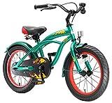 BIKESTAR Premium Sicherheits Kinderfahrrad 16 Zoll für Jungen ab 4-5 Jahre | 16er Kinderrad Cruiser | Fahrrad für Kinder Grün