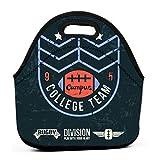 Sacs de rangement réutilisables, emblème étanche College Rugby Team rétro Style Vintage Design graphique couleur impression fond sombre