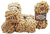 Alize Puffy fine 5 ovillos de lana de 100 g, 500 g, lana súper voluminosa, para tejer sin aguja (beige 310)