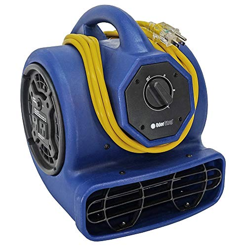OdorStop OS1000 Professional Grade Blower 1/5 hp, 1400 RPM with 10 ft. Cord,Blue