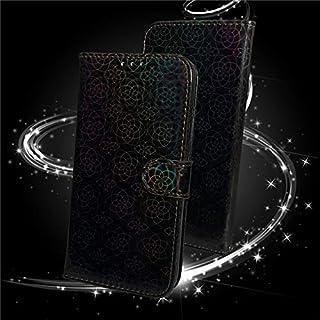 حافظات فليب - حافظة جلدية ل Mi 9 9T A3 Lite Note 10 Pro Gradient Glitter Flip Book Case Cover on For Mi9 Lite MiA3 (أسود M...