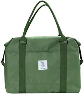 Belsmi Travel Duffle Bag Foldable Waterproof Lightweight Storage Carry Luggage Gym Sports Tote Bag (Green)