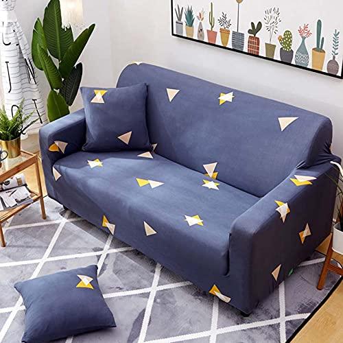 PPOS Sala de Estar Funda de sofá en Forma de L Funda de sofá elástica con Todo Incluido Funda de sofá de Esquina Suave Funda de sofá Universal Four Seasons D6 4 plazas 235-300cm-1pc