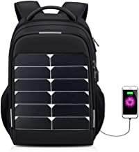 KEYBAO 15W Rapid Solar Backpack Charger,15.6-inch Waterproof Solar Laptop Backpack,Casual Business Travel Rucksack School Bookbag with USB Charging Port for Men & Women(Upgrade)