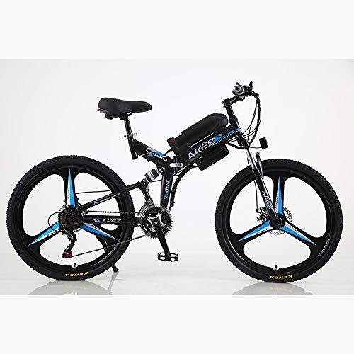 Apoyar 26 de 21 Pulgadas de Largo Velocidad de Plegado de la Resistencia eléctrica de la Bicicleta, Litio Ciclismo Bicicleta de montaña, 350W 36V 13Ah batería reemplazable de Litio Berg E.