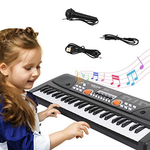 TWFRIC Kids Piano Keyboard,49 Key Multi-function Electronic Rechargable...