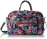 Vera Bradley Signature Cotton Compact Weekender Travel Bag, Pretty Posies