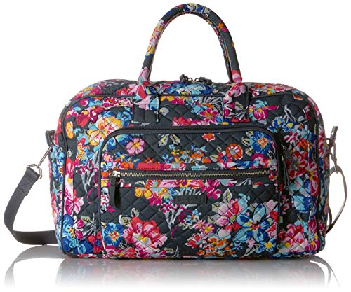 Vera Bradley Signature Cotton Compact Weekender, Pretty Posies