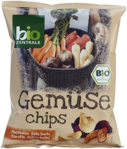 biozentrale Gemüse Chips, 6er Pack (6 x 90 g)