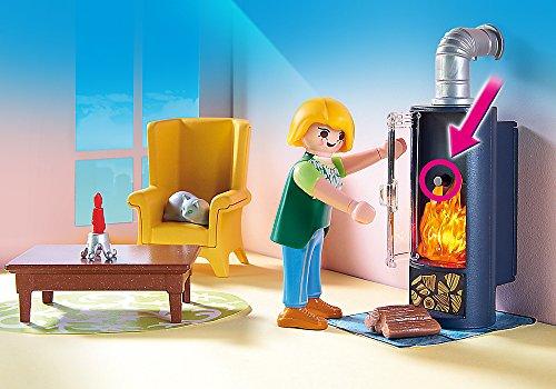 Ensemble Salon avec Foyer au Bois Playmobil - 5308 - 3