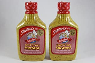 Woeber's Sandwich Pal Sweet and Spicy Mustard 16oz (Pack of 2)