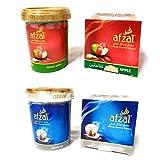 Bhuvika Afzal Flavor-Combo Pack de 2 (cada uno de 250 g), doble manzana, zorro plateado