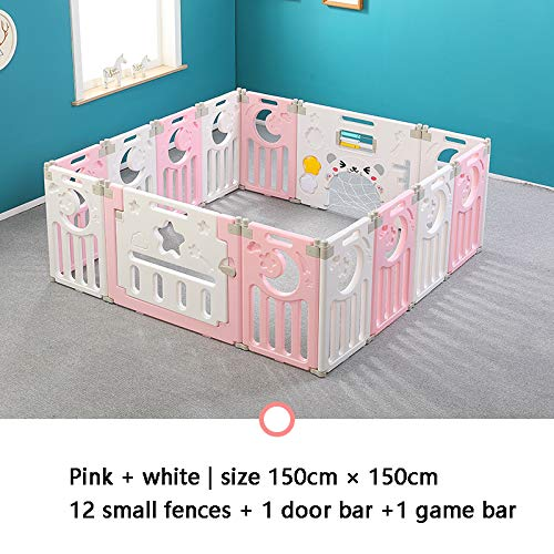 Best Buy! LCF Child Fold Game Fence Baby Plastic Safety Household Crawl Toddler Baby Indoor Playgrou...