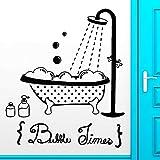 Tianpengyuanshuai Hora del baño Etiqueta de la Pared baño Ducha bañera baño Vinilo Adhesivo de Pared Impermeable 63X73cm