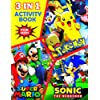 Sónic the Hedgehog, Pokémon, Marió Activity Book for Kids: 3 in 1 Fun Activity Book for Kids Ages 4-8 & 9-12: Easy Games & Puzzles: How to Draw, Mazes, Coloring, Word Search, Dot to Dot and More (Sónic Pokémon Marió Activity Book for Boys & Girls)