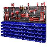PAFEN 5908261572197 Estantería de pared, Azul, 1158 x 780 mm
