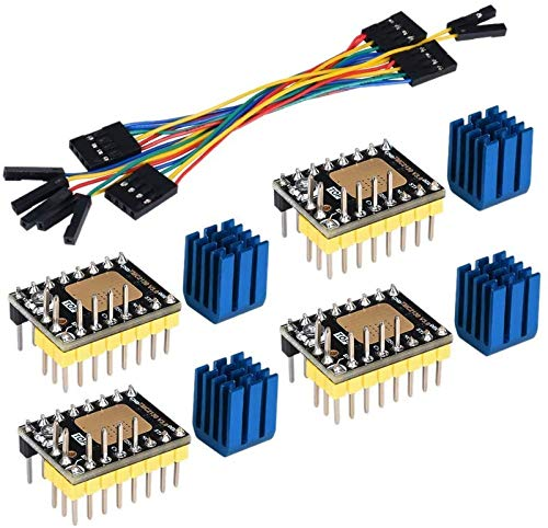 JJDSN TMC2130 V3.0 Motor Paso a Paso StepStick Mute Silent Driver con disipador de Calor para Placa de Control de Impresora 3D 4 Paquetes