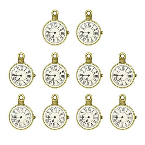 HEALLILY 10 Piezas Diy Joyería Reloj Encantos Reloj Vintage Relojes Encantos Colgante...