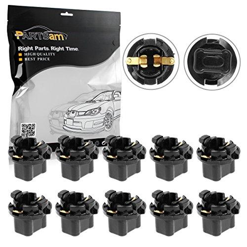 Partsam 10PCS 16mm T10 Wedge 2962988 2973932 Instrument Panel LED Light Base Socket Holder