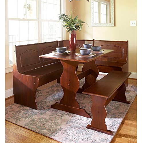 Nook Brown Traditional Rectangle Pine Finish Breakfast