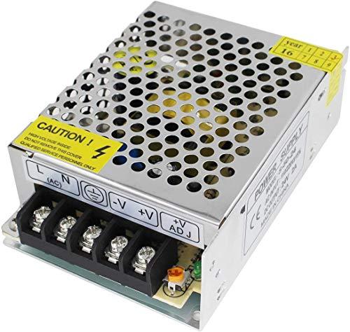 Alimentatore Trasformatore di Tensione Regolabile 110V/220V a DC 24V 2A 48W Modulo di Switching Display Power Supply Camera/Security System/LED Strip Light/Radio/Computer Project