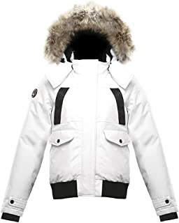Triple F.A.T. Goose SAGA Collection | Norden Womens Hooded Goose Down Jacket Parka with Real Coyote Fur