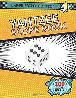 Yahtzee Score Book: 100 Score Sheets Large Print Edition (8.5