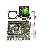 ACAMPTAR Placa Base X79 LGA2011 Placa Base SATA3.0 2.0 USB2.0 DDR3 Placa Base de Doble Canal de 1866MHz para CPU Xeon/Core con Ventilador de Enfriador de CPU