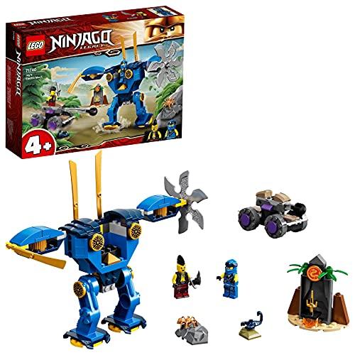 LEGO71740NinjagoRobotEléctricodeJayJuguetedeconstrucciónconMiniFiguritasyCochedeNinjaparaNiñosde+4años