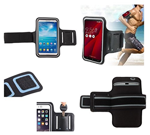DFVmobile - Armband Professional Cover Neoprene Waterproof Wraparound Sport with Buckle for Nokia Lumia 1320 LTE - Black