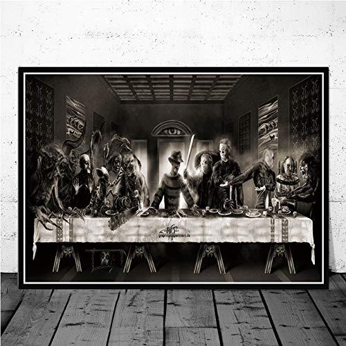 Puzzle 1000 Pezzi Puzzle dell ultima Cena del Personaggio del Film Horror di Halloween per Adulti e Bambini dai 12 Anni in su 50x75cm