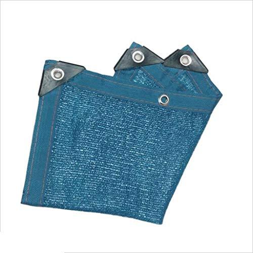 Shading net Zaixi - Pare-soleil de jardin 6 broches - Bleu - Grande dimension - Taille : 5 x 10 m