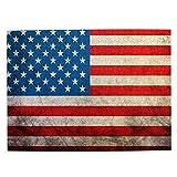 Rompecabezas de 500 Piezas,Bandera Americana Vintage ondeando Estados Unidos,Rompecabezas de imágenes para niños, Adolescentes, Adultos,Divertido Juego de Alivio del estrés para Regalo