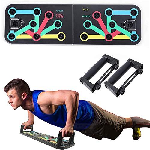 CHYU Liegestützgriffe mit Push-up-Board, 11-in-1 Liegestützbrett, Fitnesstraining für zu Hause, Sportgerät, Muskelaufbau, Bodybuilding, Farbmarkierungen, rutschfest