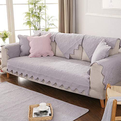 Hybad Sofa Stoel Slip Cover Zigzag stof l-vormige bankovertrek Sofa Slipcover, anti-slip sofa kussen, katoen sofa saver protector
