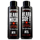 Beard Wash and Conditioner Bundle by Wild Willies Packed w/Organic Oils & Nutrients to Shampoo and Soften Your Beard Along With Peppermint & Eucalyptus Leaves An Incredible Tingle. Made In The USA!