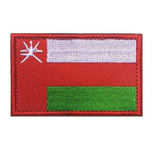 ShowPlus Oman-Flagge, Militär, bestickt, taktischer Aufnäher, Moral, Schulterapplikation