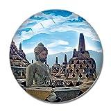 'N/A' Indonesia Magnete Indonesia Borobudur Temple Magelang 3D Magnete per Frigorifero Artigianato Souvenir Magneti per Frigorifero in Cristallo Collezione Regalo da Viaggio