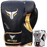 Mytra Fusion Boxing Gloves Tribal SL-3 Training Gloves (Black, 16-oz)