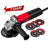 Avid Power Angle Grinder 7.5-Amp 4-1/2 inch with 2 Grinding Wheels, 2 Cutting
