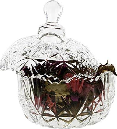 Preisvergleich für Zuckerdose | Kristall-Glas | mit Deckel | Formschön | Edel | Sek-0010