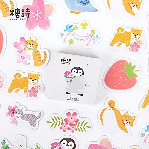 BLOUR Niedliche koreanische japanische Zeitschrift Papier Tagebuch Blumenaufkleber Scrapbooking Briefpapier Lehrer Schulbedarf